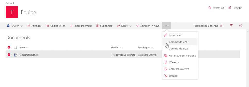 blog ai3 sp-modernui-sample-injection-js-command-1024x357 Un petit point sur Modern UI des sites Sharepoint Online