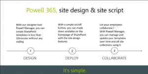 blog ai3 Powell-is-simple-300x150 Site Design & Site Script intégrés dans la Digital Workplace Powell 365 !