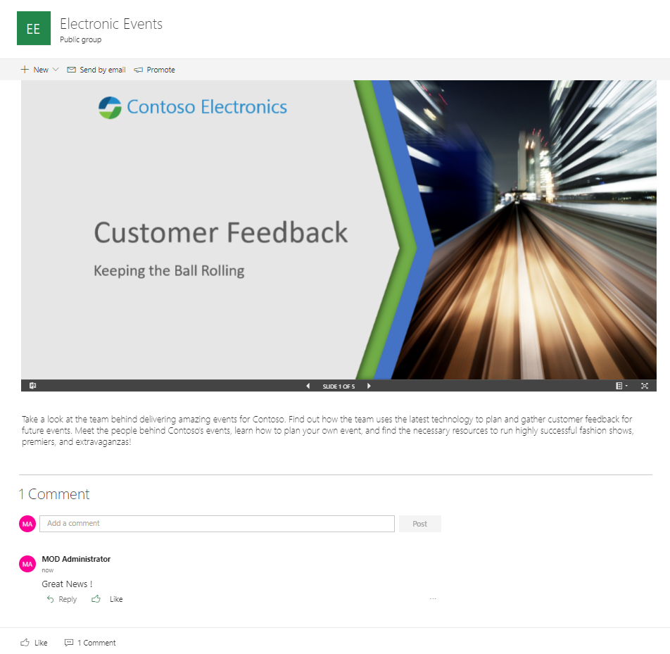 blog ai3 Capture-12 SharePoint Modern Experience : Communication Site