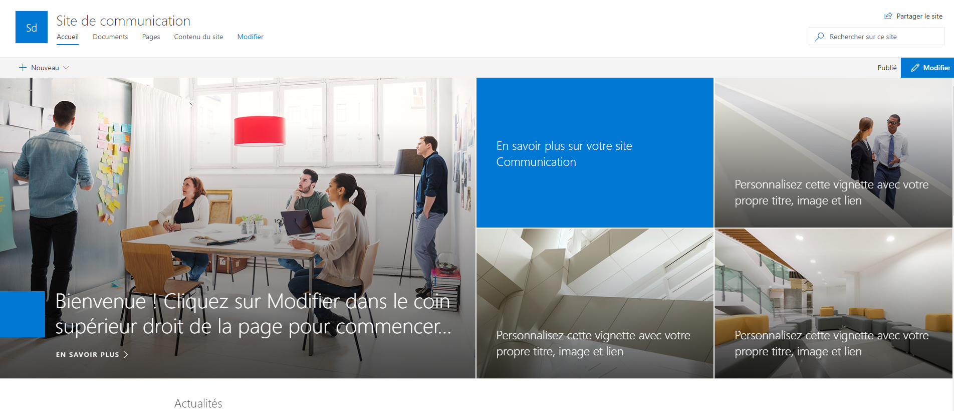 blog ai3 Capture-5 SharePoint Modern Experience : Communication Site