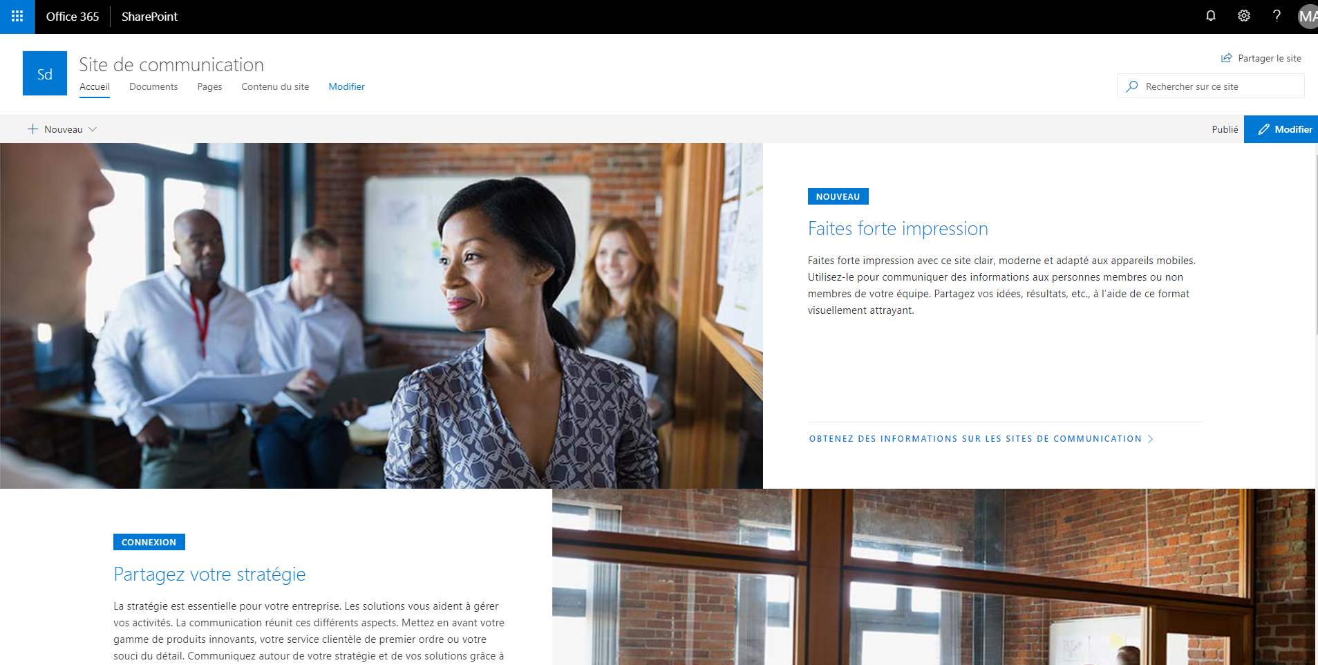 blog ai3 Capture-6 SharePoint Modern Experience : Communication Site