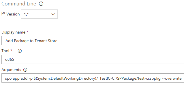 blog ai3 Create-Release8 Continuous integration for a SharePoint Framework Project